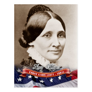 Lucy Hayes, First Lady of the U.S. Postcard