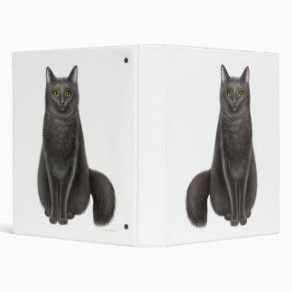 Lucy la carpeta amistosa del gato negro