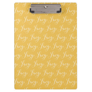Lucy - Modern Calligraphy Name Design Clipboard