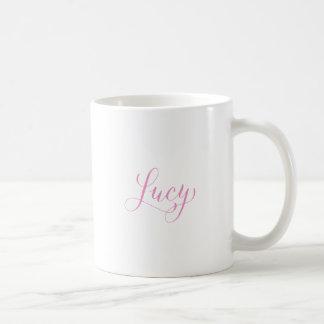 Lucy - Modern Calligraphy Name Design Coffee Mug