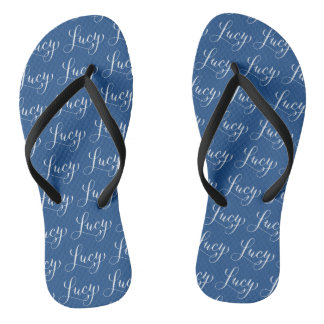 Lucy - Modern Calligraphy Name Design Flip Flops
