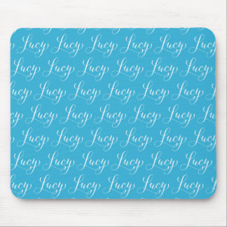 Lucy - Modern Calligraphy Name Design Mouse Pad