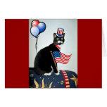 Lucy patriótica tarjeta de felicitación