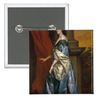 Lucy Percy, condesa de Carlisle c.1637 Pin Cuadrado