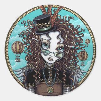 """Lucy"" Steam Punk Air Balloon Fairy Art Sticker"