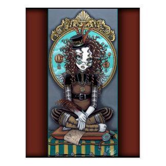 """Lucy"" Steam Punk Fairy Art Postcard"