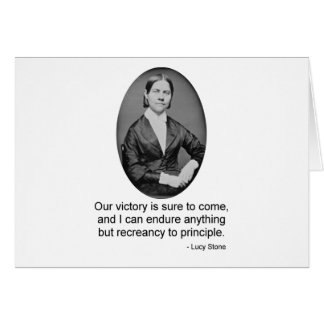 Lucy Stone Greeting Card