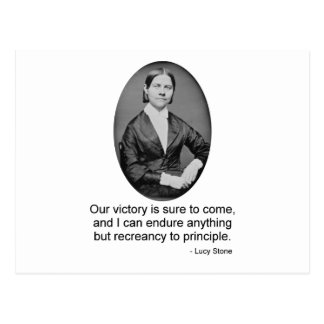 Lucy Stone Postcard