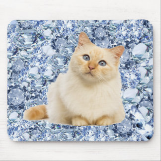 Lucy (the cat) in the Sky With Diamonds. Mouse Pad