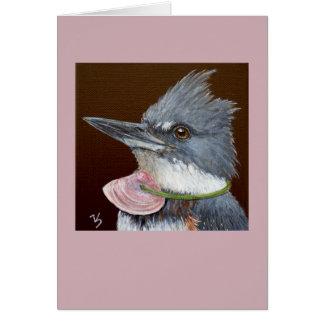 Lucy the kingfisher card