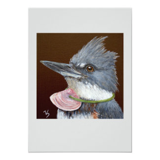 Lucy the kingfisher flat card