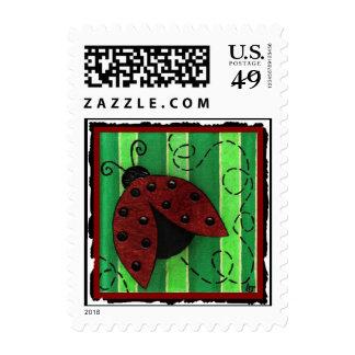 Lucy the Ladybug - postage stamp