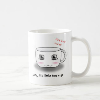 Lucy, the little tea cup. classic white coffee mug
