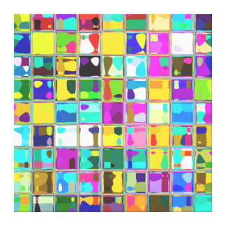 Lucy's Colorful Fun Art Canvas Print