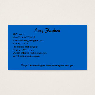 Lucy's Fashion Business Card
