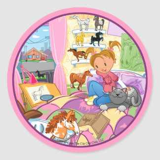 Lucy's Room Classic Round Sticker