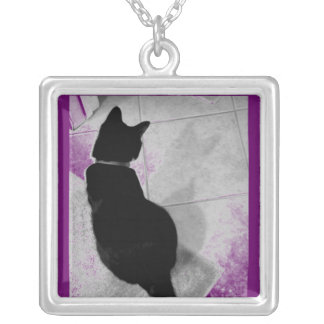 Lucy's Shadow B+W Silver Plated Necklace