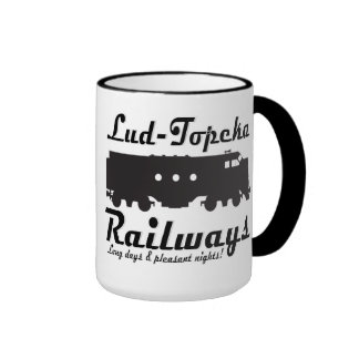 Lud-Topeka Railways - Long days & pleasant nights! Ringer Coffee Mug