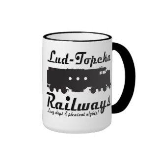 Lud-Topeka Railways - Long days & pleasant nights! Ringer Mug