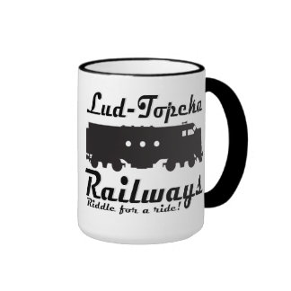 Lud-Topeka Railways - Riddle for a ride! Coffee Mug