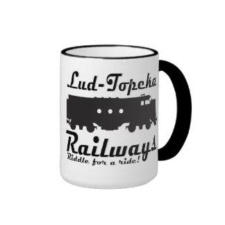 Lud-Topeka Railways - Riddle for a ride! Ringer Coffee Mug