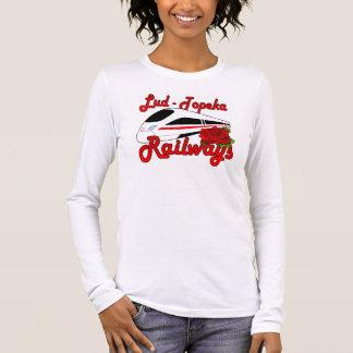 Lud-Topeka Railways & Rose Long Sleeve T-Shirt