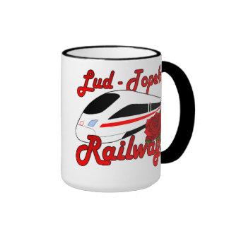 Lud-Topeka Railways & Rose Mugs