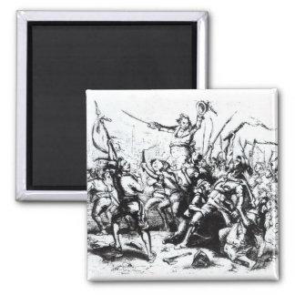 Luddite Rioters, 1811-12 2 Inch Square Magnet