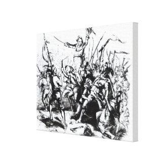 Luddite Rioters, 1811-12 Canvas Print