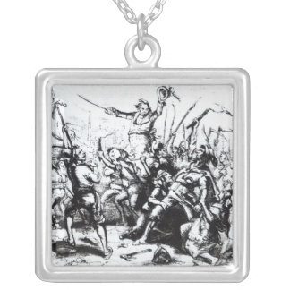 Luddite Rioters, 1811-12 Silver Plated Necklace