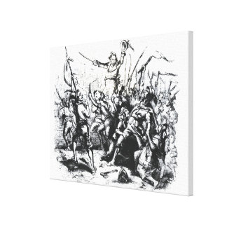 Luddite Rioters Stretched Canvas Print