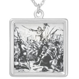 Luddite Rioters Silver Plated Necklace