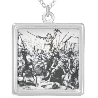 Luddite Rioters Square Pendant Necklace