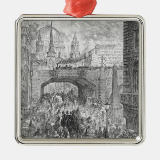Ludgate Hill Square Metal Christmas Ornament