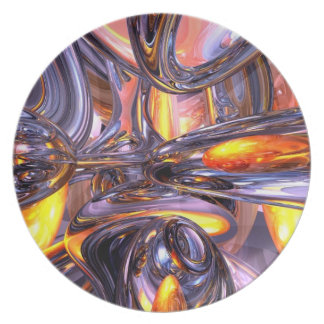 ludicrous Voyage Abstract Party Plate