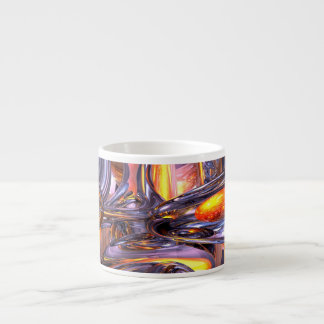 ludicrous Voyage Abstract 6 Oz Ceramic Espresso Cup