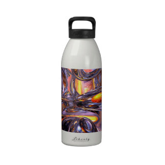 ludicrous Voyage Abstract Drinking Bottle
