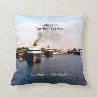 Ludington Car/Rail Ferries square pillow