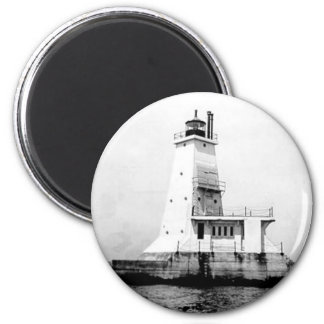 Ludington Lighthouse 2 Inch Round Magnet