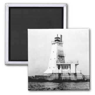 Ludington Lighthouse 2 Inch Square Magnet