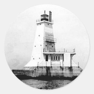 Ludington Lighthouse Classic Round Sticker
