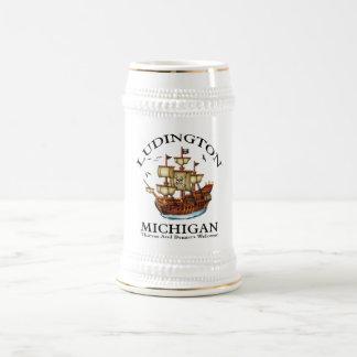 Ludington Michigan 2 18 Oz Beer Stein