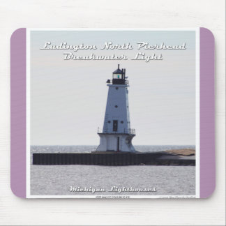 Ludington North Pierhead Breakwater Light Mouse Pad