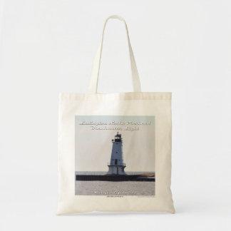 Ludington Pierhead Light - Budget Tote Bag