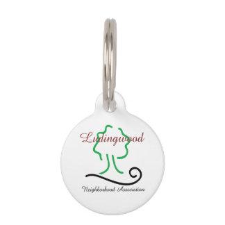 Ludingwood Logo Round Small Pet Tag