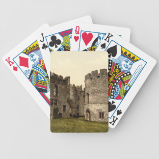 Ludlow Castle I, Shropshire, England Bicycle Poker Deck