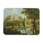Ludlow Castle with Dinham Weir, from the South-Wes Rectangular Photo Magnet