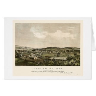 Ludlow, VT Panoramic Map - 1859 Card