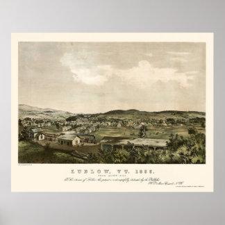 Ludlow, VT Panoramic Map - 1859 Print