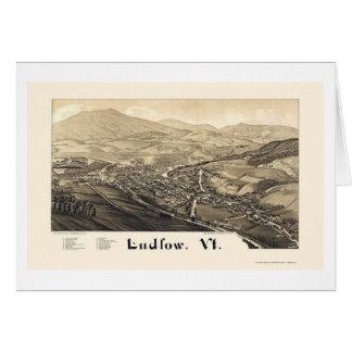 Ludlow, VT Panoramic Map - 1885 Card